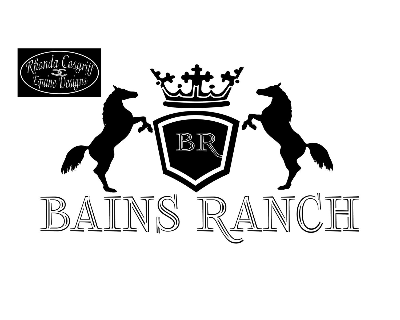 Bain\'s Ranch logo branding/ development - Rhonda Cosgriff Designs