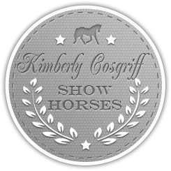 KimberlyCosgriffShowHorsesGrayBadgeLogo+website-design